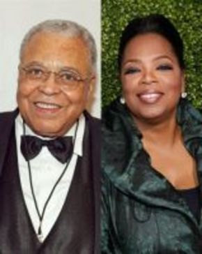 James Earl Jones y Oprah Winfrey recibirán un Oscar honorifico