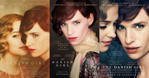 Tres nuevos carteles de Eddie Redmayne en 'The Danish Girl'