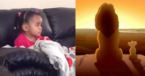 Vídeo: Una niña se emociona al ver la muerte de Mufasa