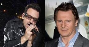Bono y Liam Neeson, juntos para escribir un guión cinematográfico