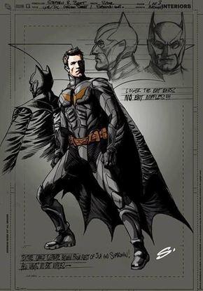 Boceto del traje que podría lucir Ben Affleck como Batman
