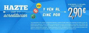 La VI edición de la Fiesta del Cine se celebrará el 31 de marzo y 1 y 2 de abril