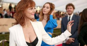 Polémica por el escotazo de Susan Sarandon en los premios SAG